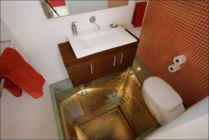 Необычный ремонт в ванной