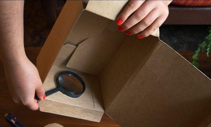 Проектор своими руками из коробки 37