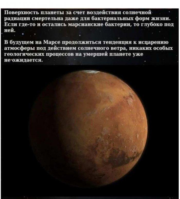 Что нибудь интересное про планету марс