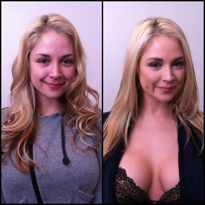 Порноактрисы с и без макияжа