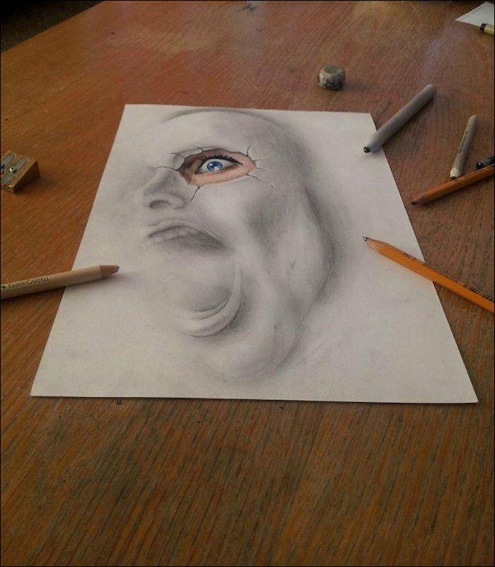 Красивый рисунок на бумаге своими руками
