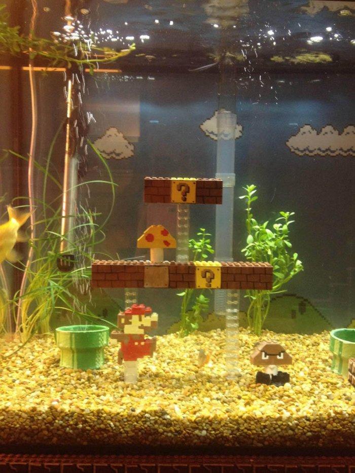 Как самому сделать декор в аквариум