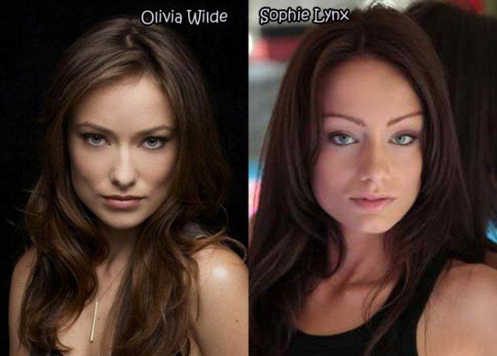 порно актрисы похожие на знаменитостей