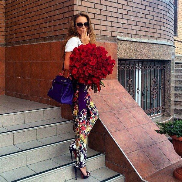 Фото с цветами в инстаграме