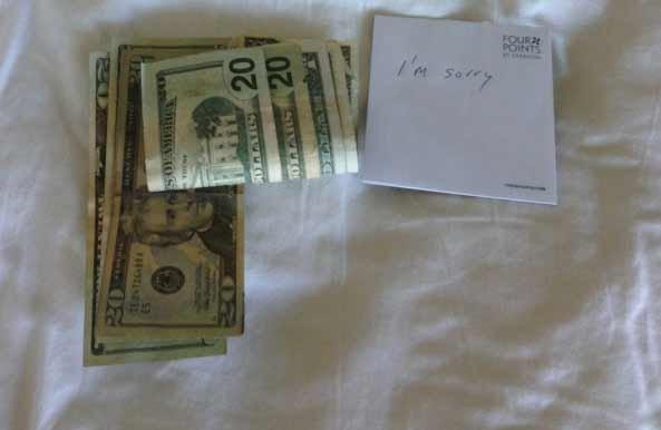 100 долларов на чай(2 фото)