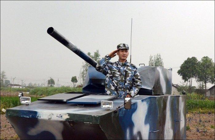 Самоделковый танк(9 фото)