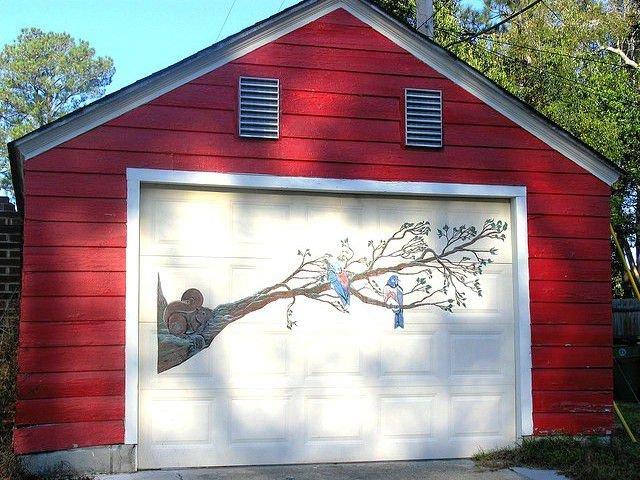 Рисунки на гаражных воротах (24 фото)