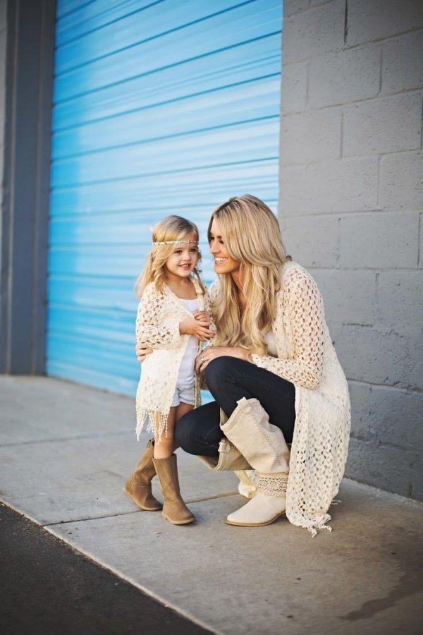 фото мамочек с дочками