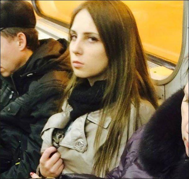 фото в метро приколы