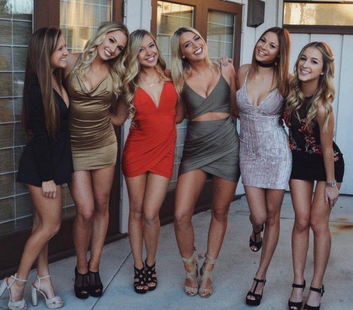 Горячие штучки: Девушки в обтягивающих платьях (40 фото) - 24.07.2018