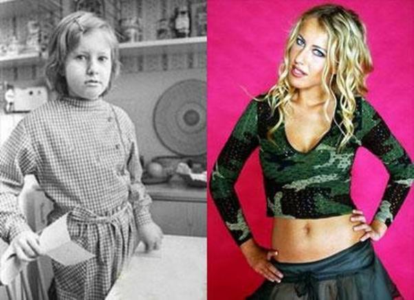 В молодости и сейчас