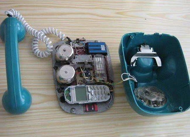 Самодельный стационарный сотовый телефон