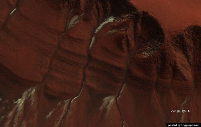 Разноцветная планета Марс.