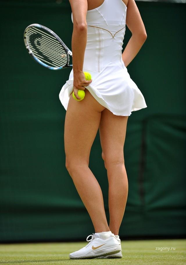 Теннисистки в мини извиняюсь