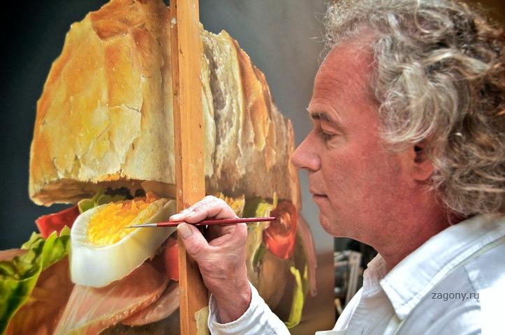 Художники рисовали еду