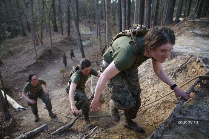 يبلغ عدد النساء اللواتي يخدمن في صفوف الجيش الأمريكي حوالي 14 في المئة