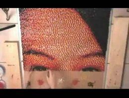Потрясающая картина из канцелярских гвоздиков (4.352 MB)