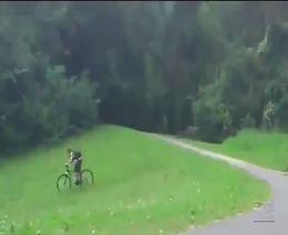 Неудачный спуск на велосипеде (1.718 MB)
