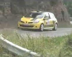 Заяц догоняет раллийное авто (1.195 MB)
