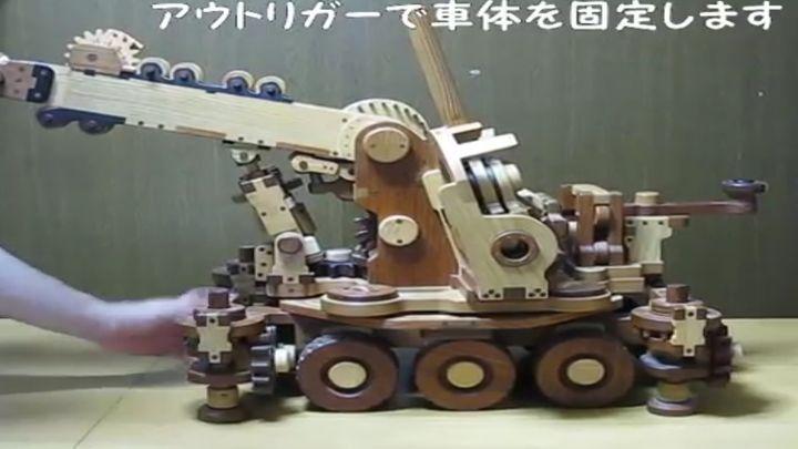 Деревянная модель крана для ребенка (8.694 MB)
