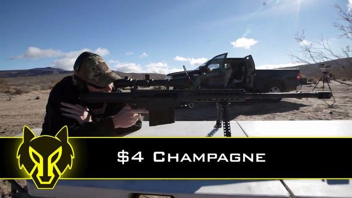 Парень открыл шампанское выстрелом из снайперки (10.841 MB)