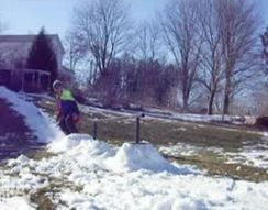 Жесткое падение на сноуборде (1.546 MB)