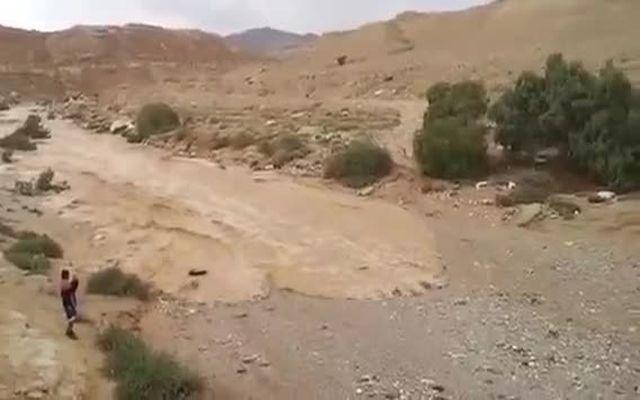 Пересохшая река наполняется водой (9.307 MB)