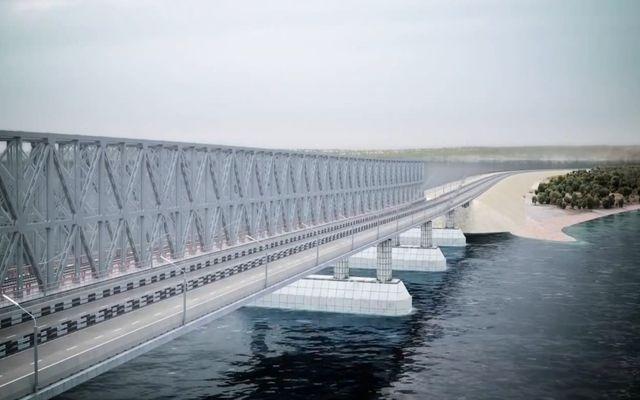 Презентация моста из материковой России в Крым (9.101 MB)