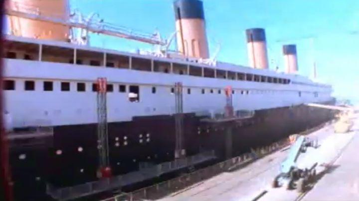 Огромный макет Титаника для фильма 1997 года (17.860 MB)