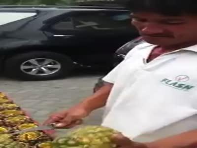 Как быстро почистить ананас (3.633 MB)