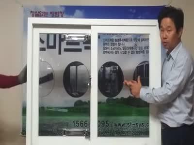 Японец демонстрирует прочность окна (3.715 MB)