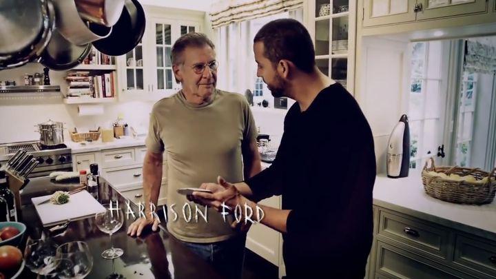 Дэвид Блэйн показал фокус Харрисону Форду (10.491 MB)