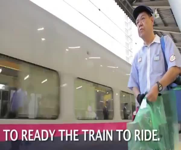 Как убирают вагоны поезда в Японии (7.642 MB)