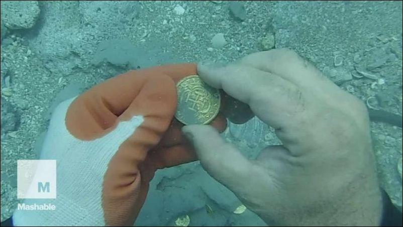 Клад золотых монет у побережья Флориды (7.292 MB)