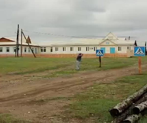 Пешеходный переход возле школы в Иркутской области