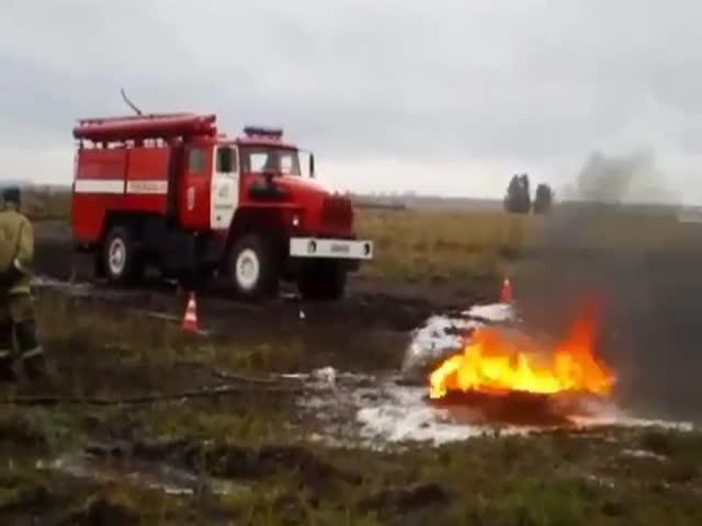 Фэйл на учениях пожарных в казахстанском Павлодаре