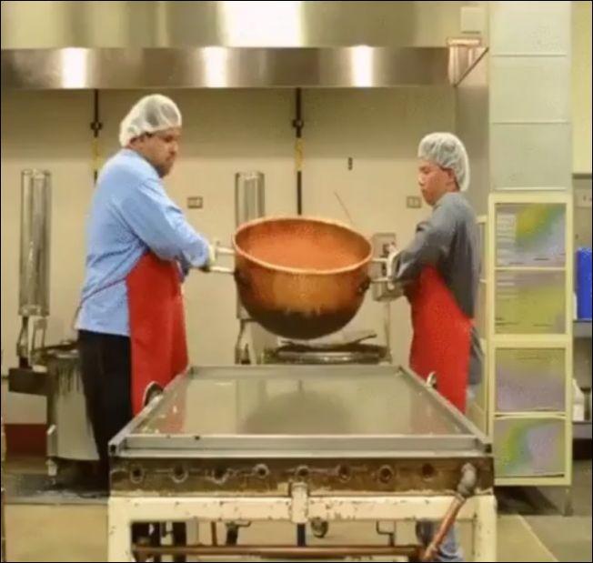 Как делают карамельные конфеты