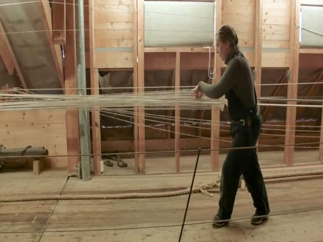 Как делают веревку на старинной технологии