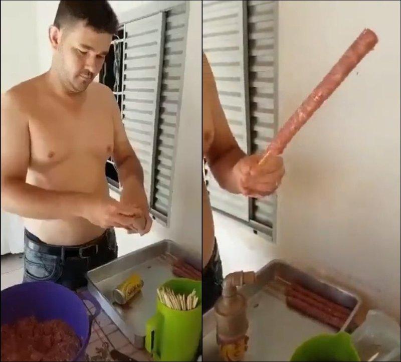 Как легко насадить мясной фарш на шампур