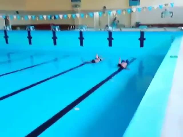 Как плавать в бассейне без воды