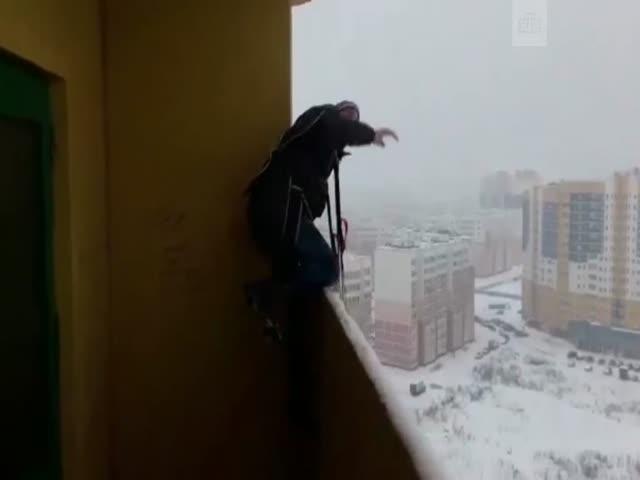 В Иваново парень спрыгнул с парашютом с балкона многоэтажного дома