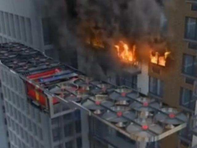 Дрон для тушения пожаров из недалекого будущего