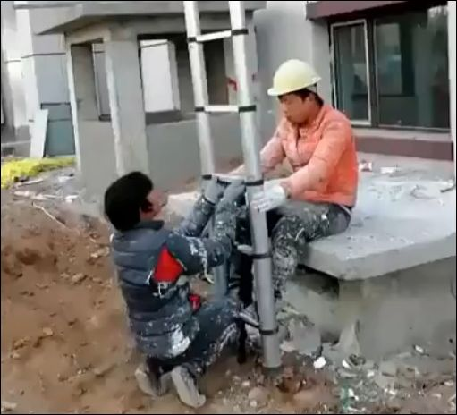 Необычная складная лестница