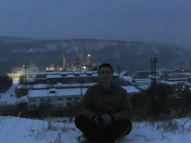 Как выглядит один день в Мурманске зимой