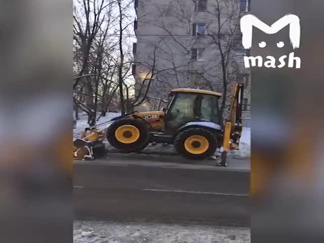 Как прогревают экскаватор перед работой в мороз
