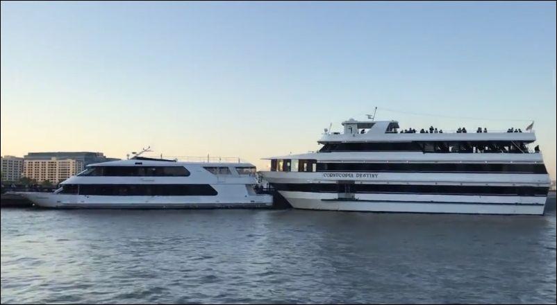 Что-то пошло не так во время парковки крупной яхты