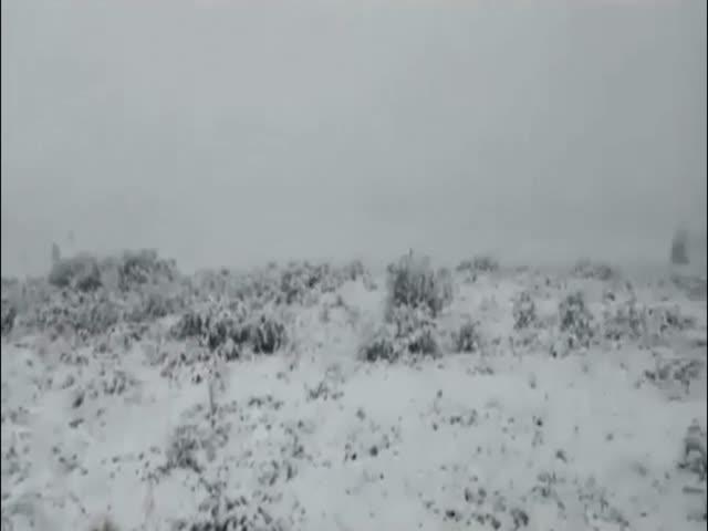 Снег в Бурятии 9 июля 2018 года