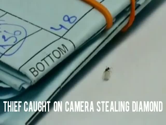 Вор крадет бриллиант из ювелирной мастерской