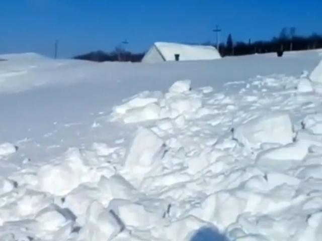 Как найти свой гараж после снегопада в Хабаровском крае