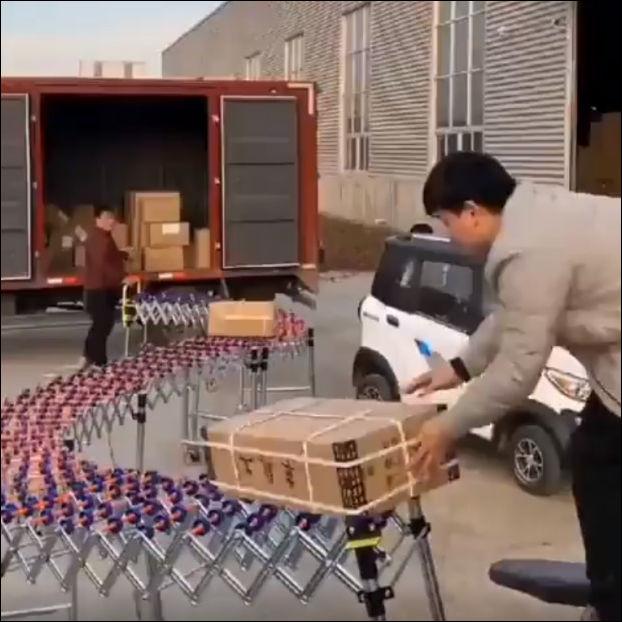 Очень необычное устройство для перемещения грузов